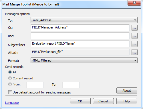 The Mail Merge Toolkit from MAPILab allows you to send out a mail merge with attachments.