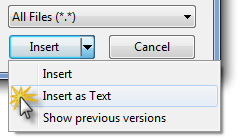 Inject HTML code into the message body via the Insert as Text option.