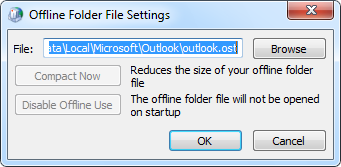 Offline Folder File Settings